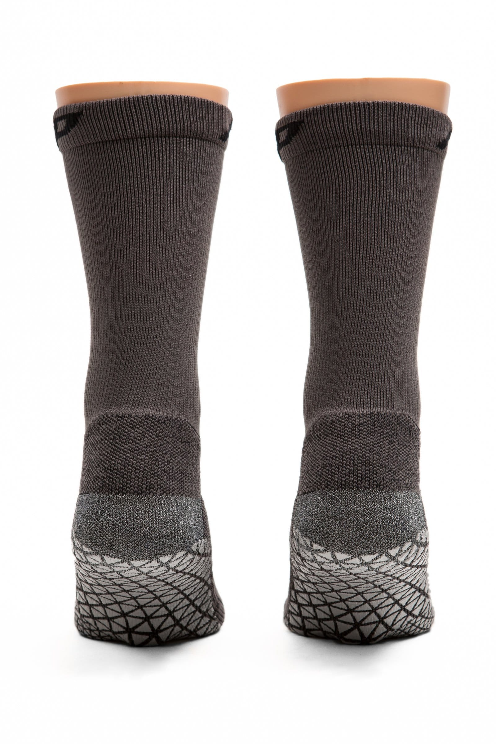 Pedestal 4.0 Crew Grip Sock in Gray - Great for Deadlifting and Powerlifting